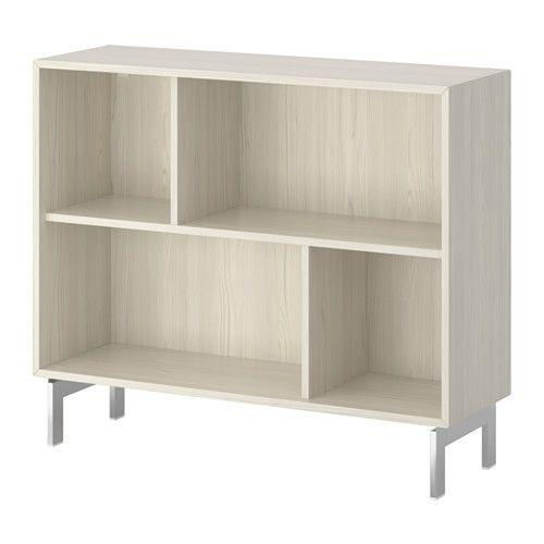 IKEA - VALJE, Estantería, alerce blanco, , Una solución de almacenaje asimétrica que personalizas con tus objetos.Aprovecha al máximo la estantería con las cajas o la cómoda mini PALLRA.