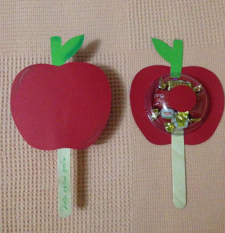 Gift for first day of school..apples and sweets