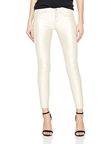 d56be179a55dae ONLY Damen Skinny Jeans onlKENDELL REG SK ANK Coated PNT BJ NOOS Weiß  (White)