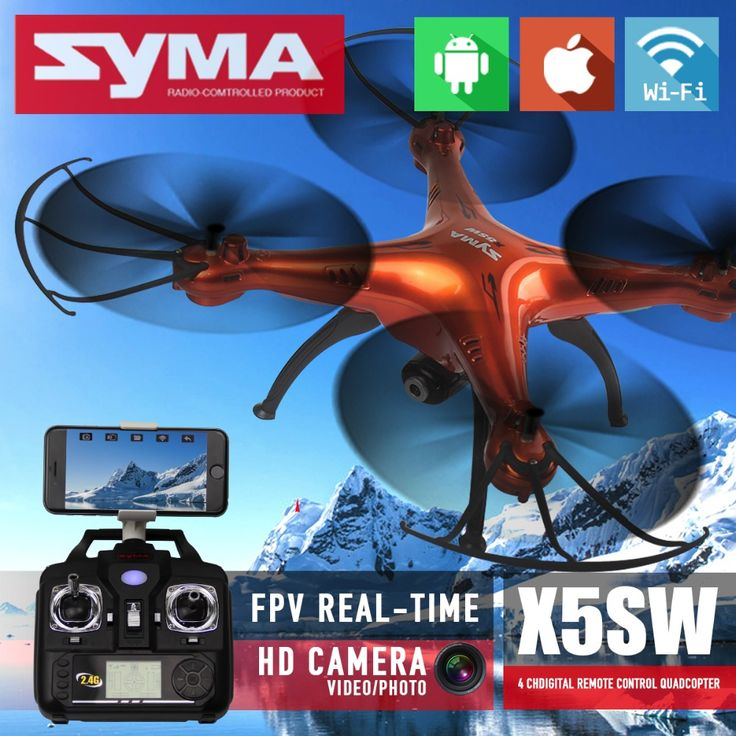 ==> [Free Shipping] Buy Best Syma X5SW & X5SW-1 FPV RC Quadcopter Drone With WIFI Camera HD 2.4G 6-Axis Dron RTF RC Helicopter toys VS Syma X5C Online with LOWEST Price | 32421758431