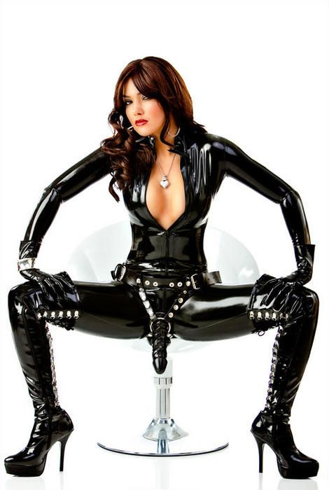 Strap-on with matching boots.  MJ  https://www.facebook.com/RamblingsofaFemmeDomme
