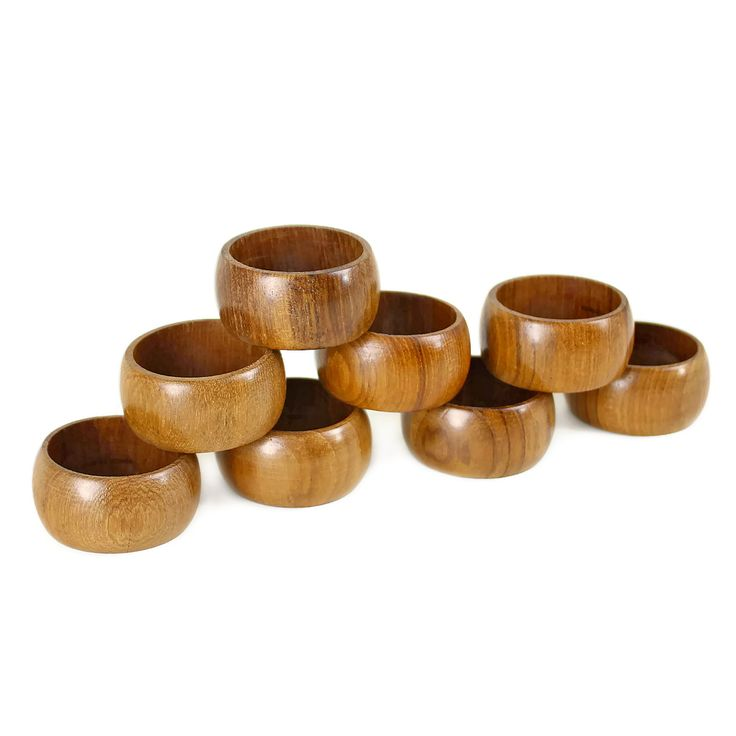 #Vintage Napkin Rings, Wooden, Made for #Eaton's Canada (SOLD)