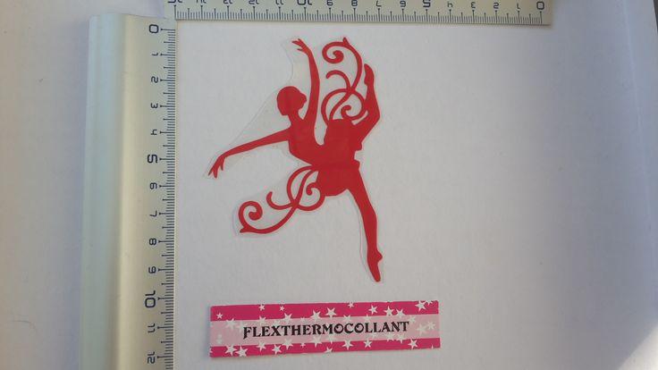 Applique thermocollant Danseuse ballerine rouge à repasser en flex thermocollant : Déco, Customisation Textile par flexthermocollant