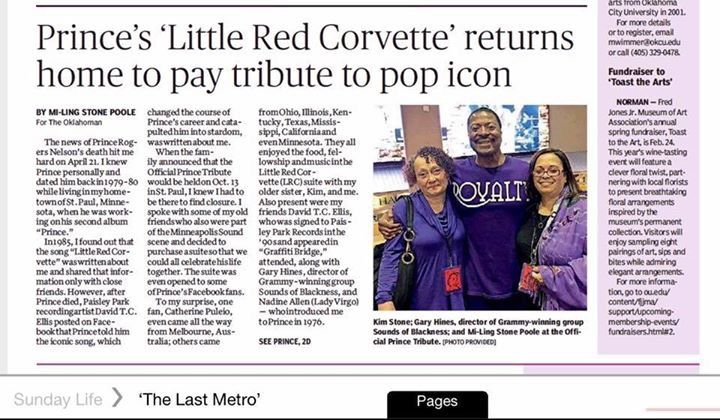 Prince's Little Red Corvette shares her journey home to celebrate Prince! http://m.newsok.com/princes-little-red-corvette-returns-home-to-pay-tribute-to-pop-icon/article/5533986
