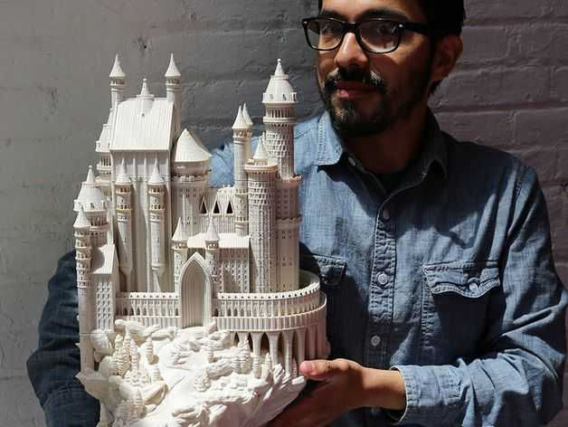This Medieval Castle print was modeled from two European castles that are both majestic and have some very interesting construction and incredible views.   Schloss Lichtenstein and Neuschwanstein Castle, both located in Germany.   Designed to print as either a single print on the MakerBot Replicator Z18 (Fantasy Castle.stl) or as a multi-part print on the MakerBot Replicator 2 - this castle will make a great item to your 3D print collection.