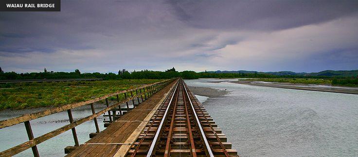 Waiau Rail Bridge on the Pacific Coastline