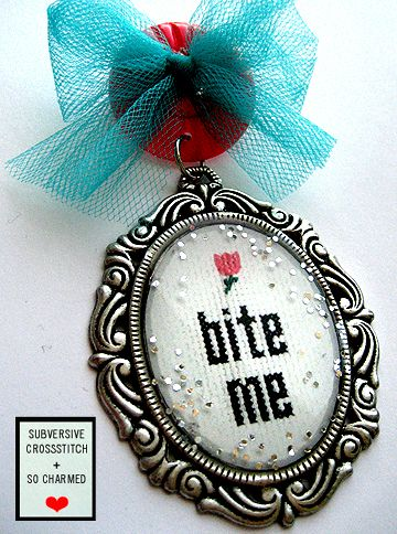 Subversive Cross Stitch and So Charmed Jewelry: Subver Crosses Stitches, Cheeky Crosses, Bitch N Stitches, Stitches Charms, Crosses Stitchery, Charms Jewelry, Stitches Pin, Subversive Crosses Stitches, Cross Stitches