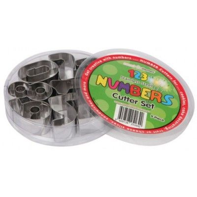 Numbers Food Cutters – Stainless Steel http://littlebentoworld.com/shop/food-cutters/numbers-food-cutters/