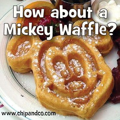How about a Mickey Waffle?