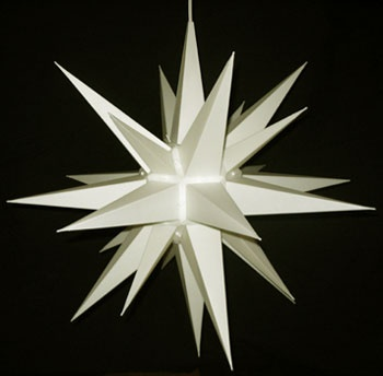 Make A 3 Dimensional Moravian Star Together As You Lean