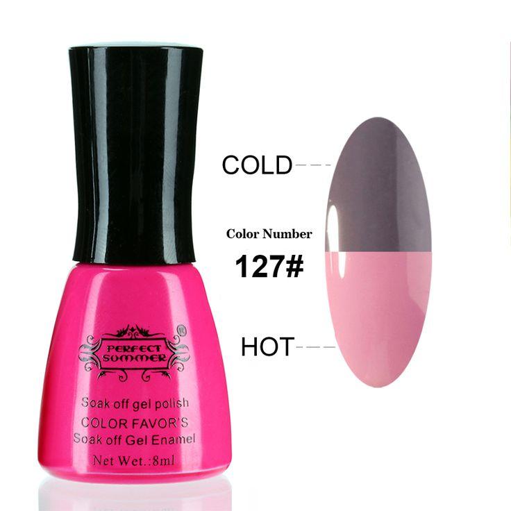 Perfekte Sommer Uvnagelgelpoliermittel Temperatur Farbwechsel UV Gel für Nagel Tränken weg vom Nagel Gel Lack 8 ml Nagel Gel