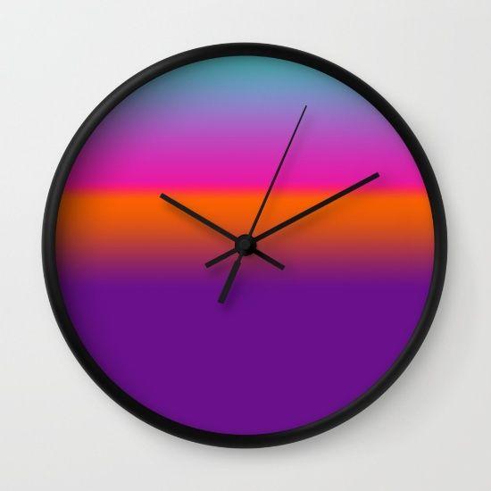 Sunset Wall Clock #bright #color #decor #sunset