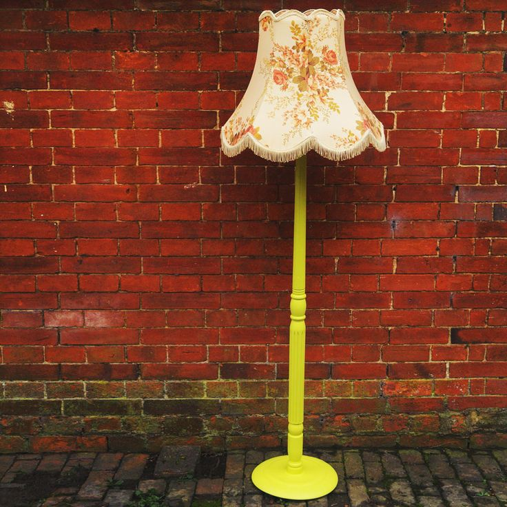 Chartreuse Lamp & Floral Shade, £120.00