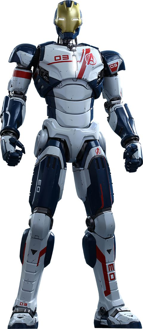 The Armor Drones were drones created by Tony Stark as part of the New Iron Legion to help the Avengers. There are five models in existence, all with the same characteristics and features with the exception of their model numbers and color accents, which a