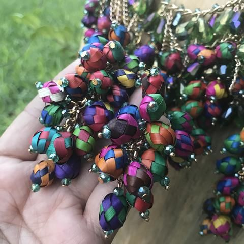 New Mexican Handmade Statement Necklace and Earrings Set Racimos