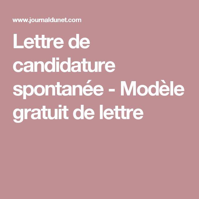 Lettre de candidature spontanée  - Modèle gratuit de lettre