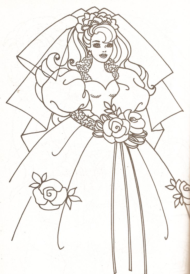 Colouring In Pages Wedding : 42 best wedding bride coloring pages images on pinterest