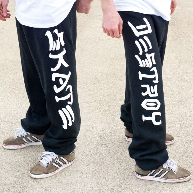 Skate And Destroy Sweatpants in size small