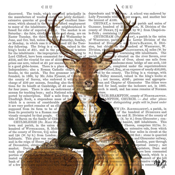 Lord Winston Napkin 33x33 cm #ppd #paperproductsdesign #fabfunky #design #designer #artist #künstler #stevensmclaughlan #deer #hirsch #animals #tiere #napkin #serviette