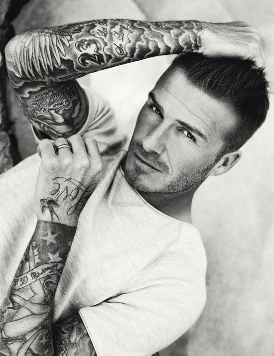 man + tattoo sleeve hello handsome