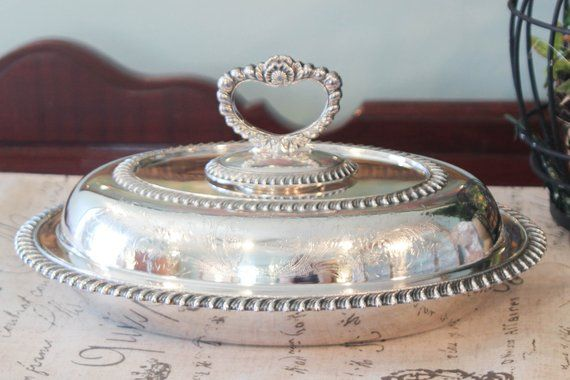 Silver Plate Entree Dish