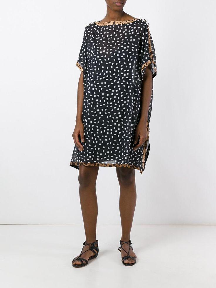Dolce & Gabbana платье-кафтан в горох