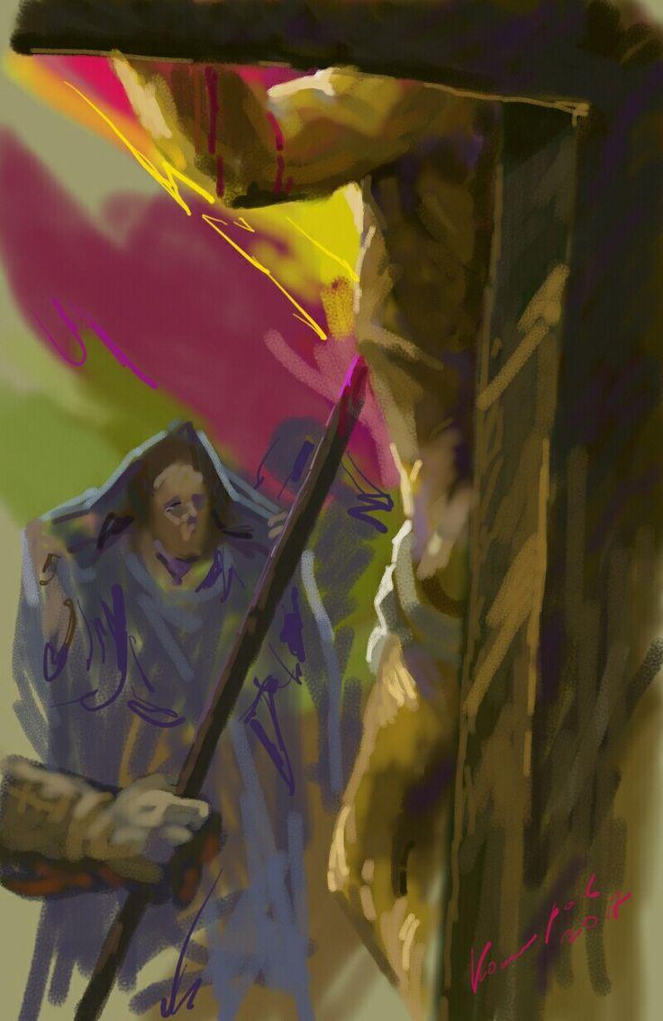 Иисус Христос царь иудейский.  Художник Комаров Игорь.  Цифровая живопись