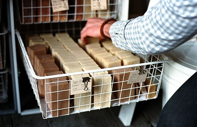 Cool way to store soaps while curing.                                                                                                                                                                                 More