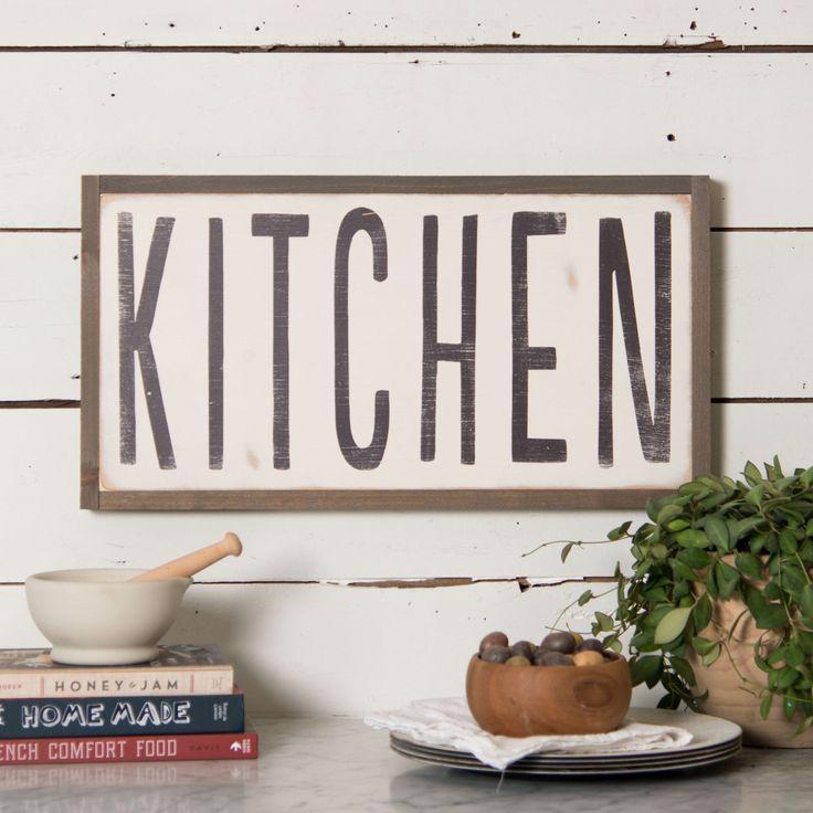 "Above the door in my kitchen ""Kitchen"" Wooden Sign - Magnolia Market   Chip & Joanna Gaines"