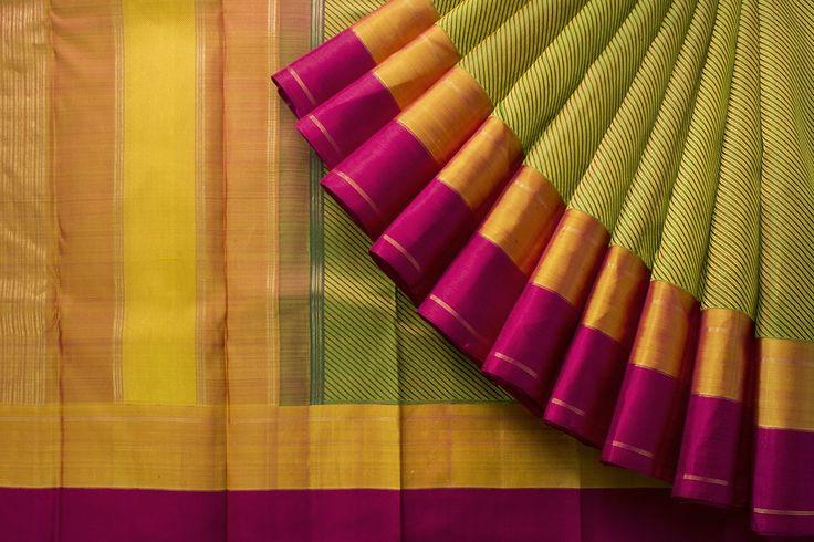 Handwoven Kanjeevaram Silk Sari Parisera