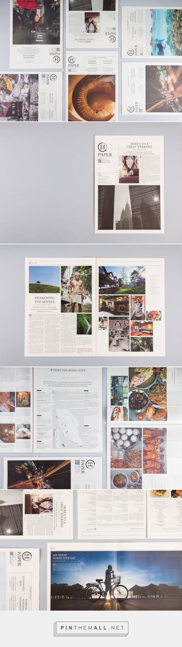 Hpaper — A Quarterly Newsletter on Behance... - a grouped images picture - Pin Them All
