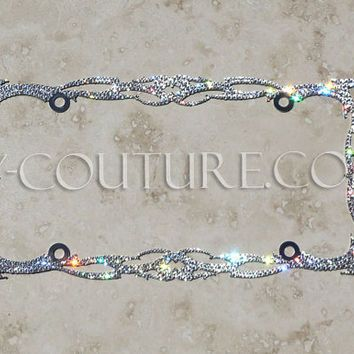 crystal twilight bling license plate frame with swarovski jeep pinterest twilight license plates and crystals
