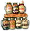 Stacked Dinners in Mason Jars by Deborah Dolen Excerpt Kitchen Art's Collection: Gifts in Jars Barnes and Noble Nook