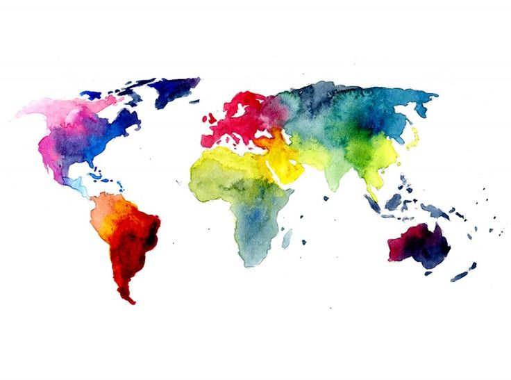 Map Pin In A Map Free Vector Instantshift Beautiful Free: Gradient Watercolour World Map Tattoo Design