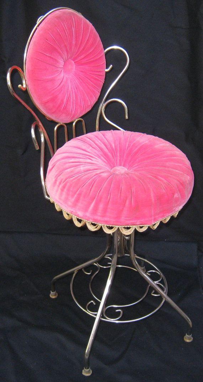 Vintage Hollywood Regency 50's Vanity Velvet by MacGrubers on Etsy, $180.00