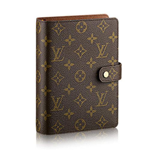 Louis Vuitton Monogram Canvas Medium Ring Agenda Cover R20105             $195.00