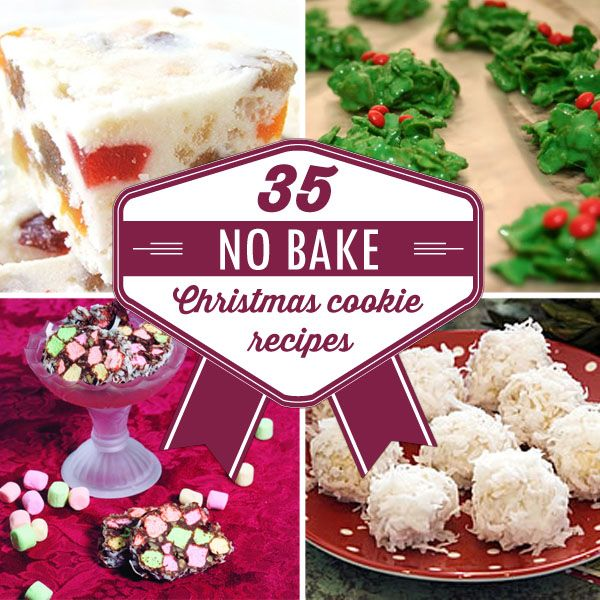 35 No-Bake Christmas Cookie Recipes | #christmascookies