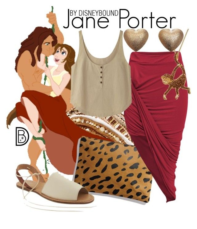 Jane Porter by leslieakay on Polyvore featuring Rachel Comey, Old Navy, Chan Luu, Disney, disney, disneybound and disneycharacter