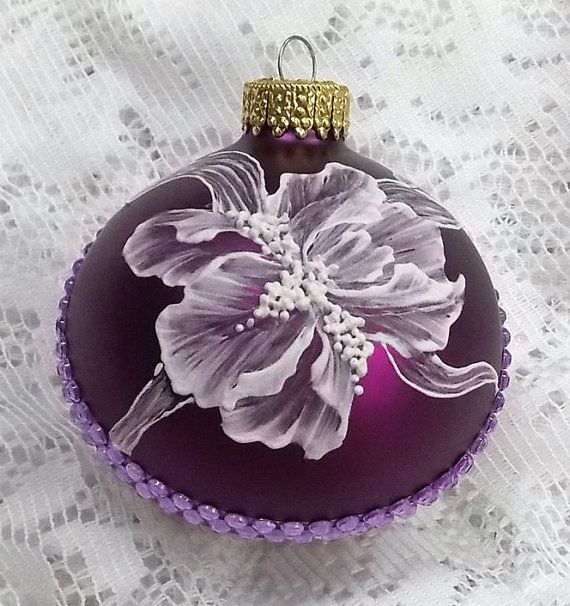 Royal Blue Christmas Ornaments Part - 48: Royal Blue Christmas Ornament With Hand By MargotTheMUDLady