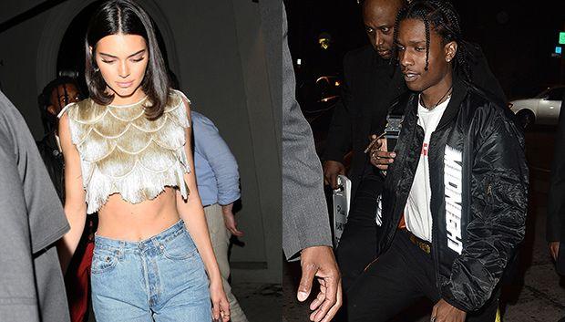 Kendall Jenner & Asap Rocky At Khloe Kardashians Birthday Party