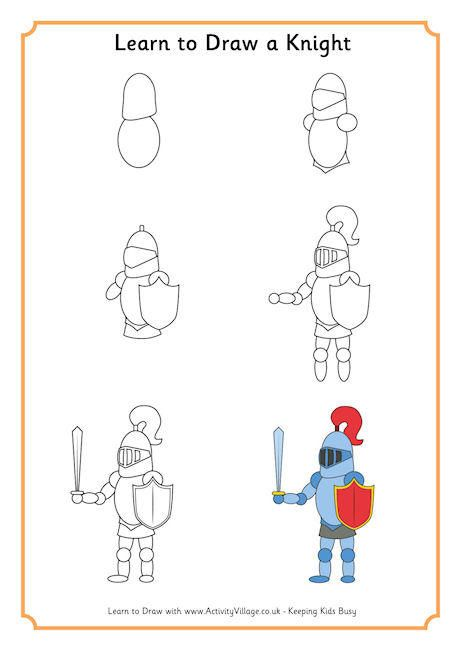 """Learn to Draw a Knight-to use with """"A Knight at Dawn ..."""
