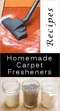 Recipes For Carpet Cleaner, Freshener & Sachets