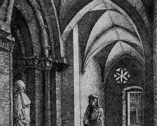 Портик синагоги в Регенсбурге - Альбрехт Альтдорфер