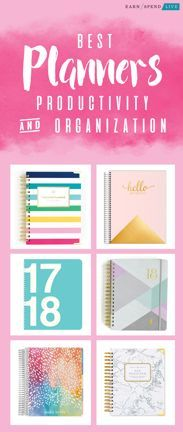The Best Planners for Productivity and Organizations in 2018, Best 2018 Planner, Best 2018 Day Planner, Best Day Planners, Best 2018 Weekly Planners #FinancePlanner