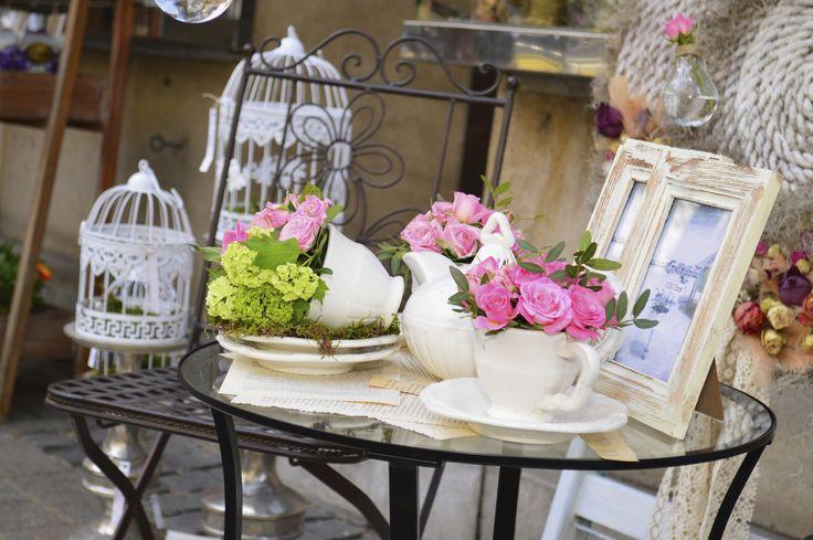 Vintage tea party dekoráció
