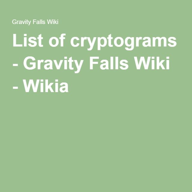 List of cryptograms - Gravity Falls Wiki - Wikia