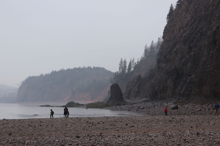 This is Wasson Bluff located not far from Parrsboro along the Bay of Fundy (Nova Scotia)
