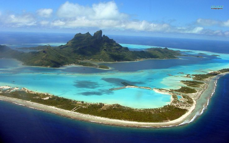 It's considered to be the most beautiful island in the  whole world. French Polynesia, Pacific Ocean