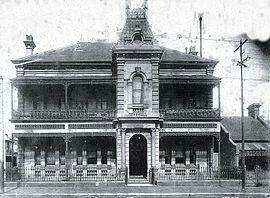 Waterloo Town Hall on Elizabeth St,Waterloo in inner Sydney in 1916.