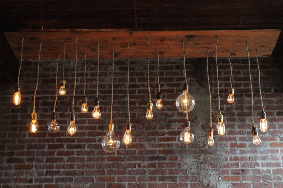 reclaimed barn wood chandelier light fixture with varying style bulbs. Black Bedroom Furniture Sets. Home Design Ideas
